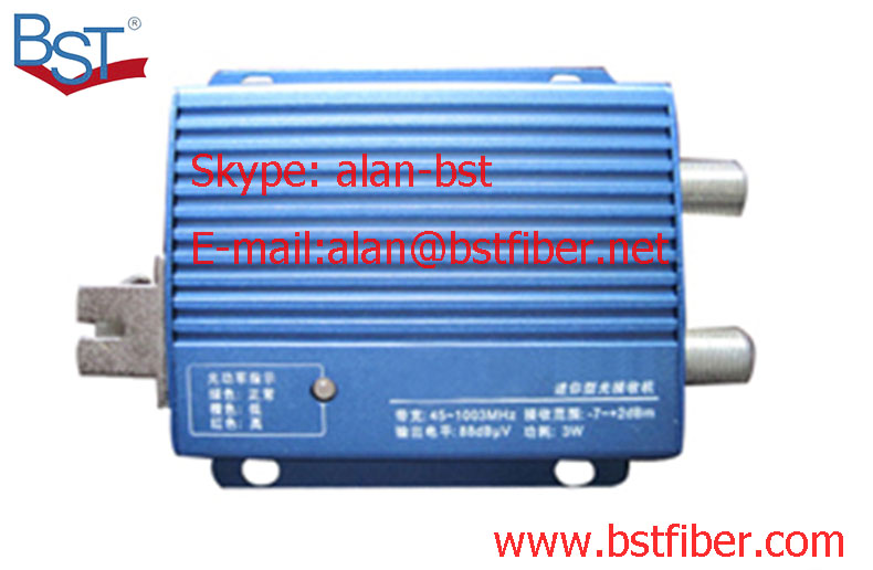 FTTH cable optical receiver The optical fiber as CATV household/indoor low power digital simulation