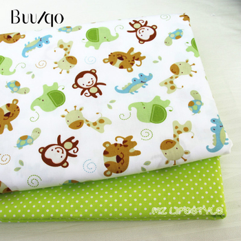 Cotton twill fabric monkey Printed baby quilting cotton fabric by meter DIY sewing craft cotton material фото