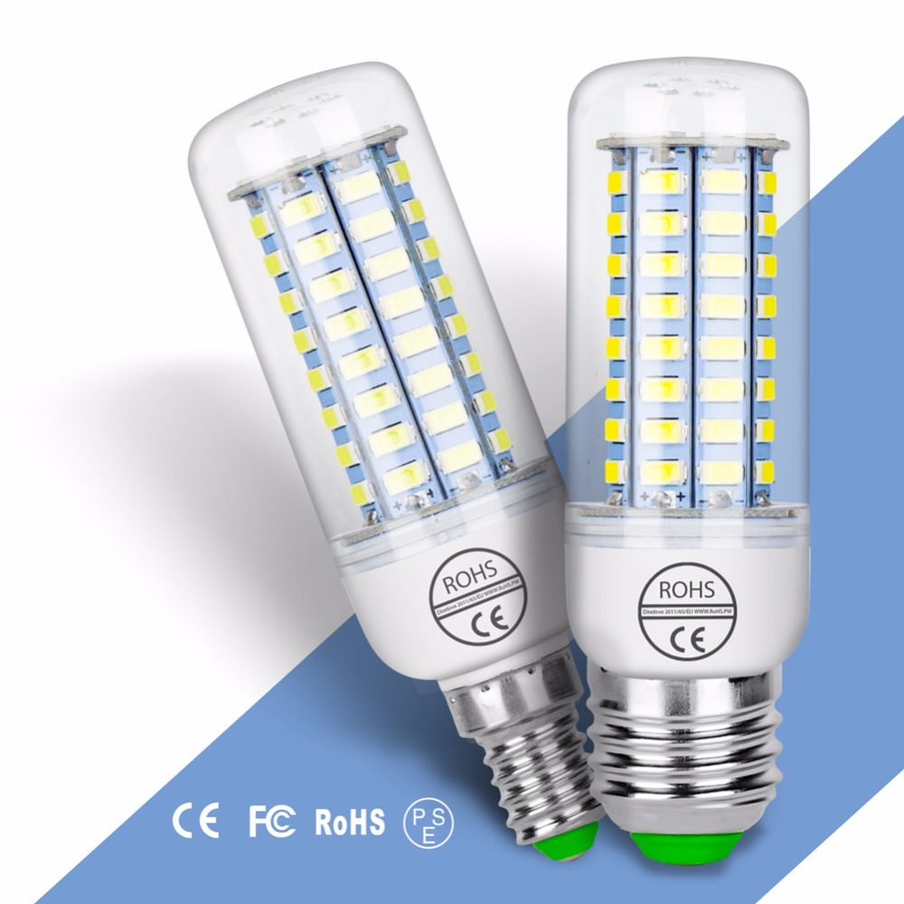 E27 LED Lamp Corn Bulb Candle 220V Bombillas LED E14 Ampoule GU10 LED 5W Corn Light 5730 SMD 24 36 48 56 69 72leds 3W Light Bulb