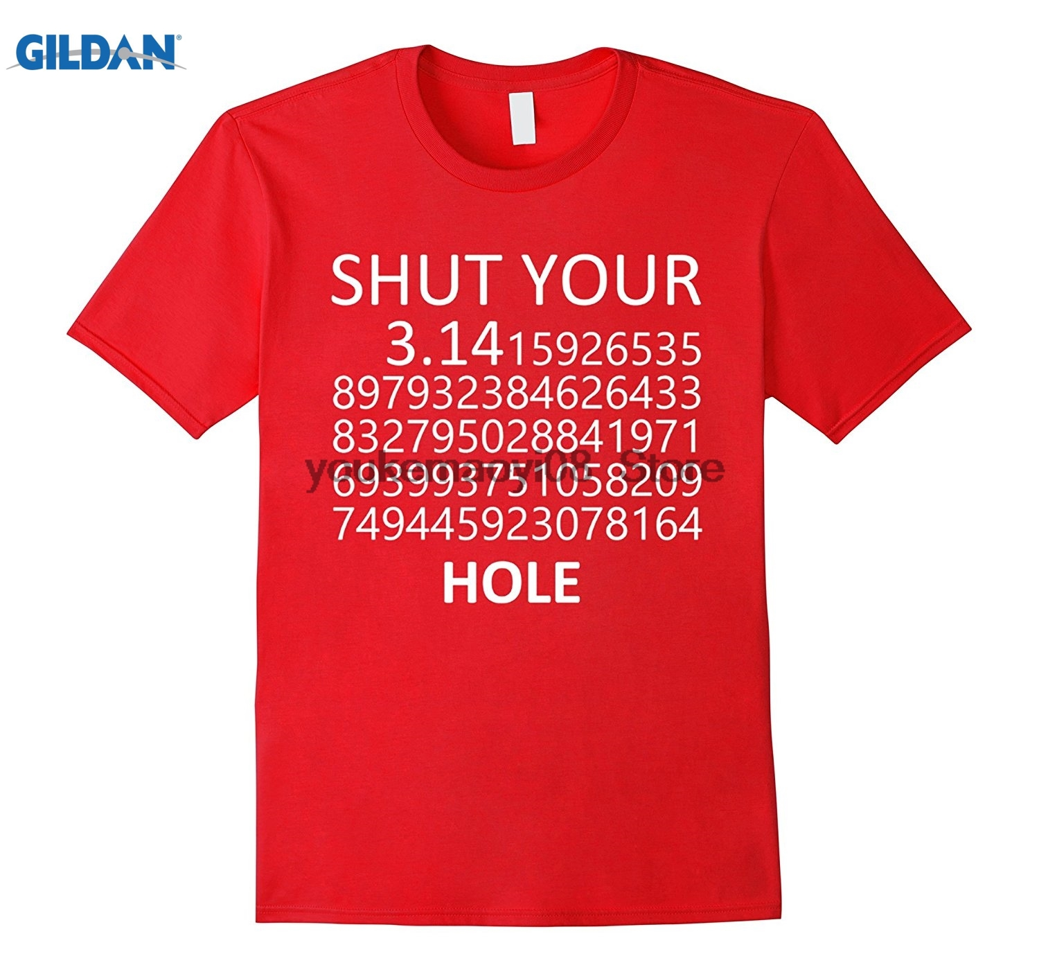 GILDAN cotton printed O-neck T-shirt Best Math and Scienc Shut Your Pi Hole I Love Science T-shirt