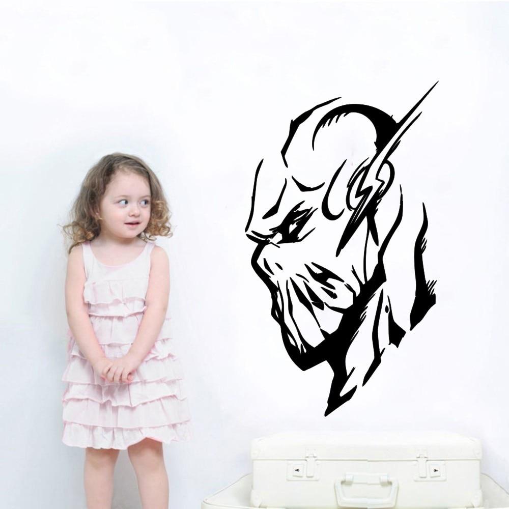The Flash Superhero Head Wall Mural Cool Home Bedroom Decor Marvel