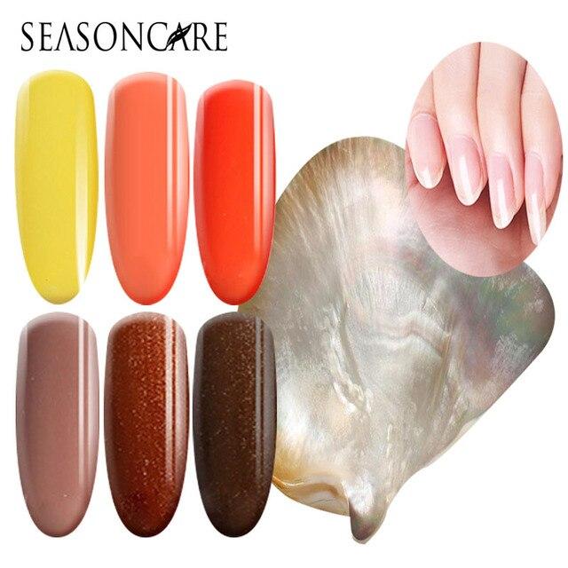 SEASONCARE UV LED Curing Pearl fragrance Nail Gel Long Lasting UV Nail Polish Manicure Top Base Coat Free Tip Guides Soak