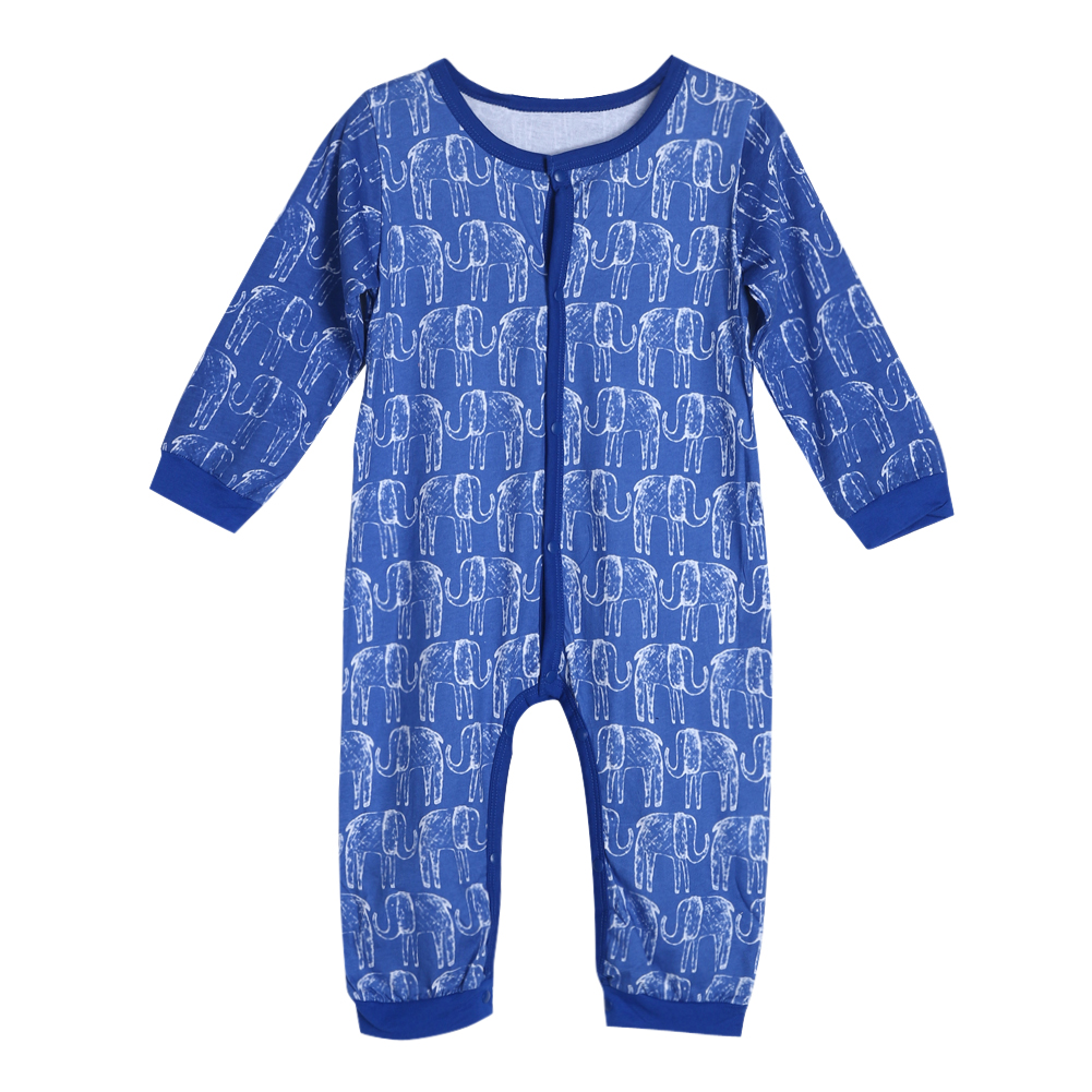 Newborn Baby Rompers Baby Clothing Set Elephant Print Cotton Infant Jumpsuit Long Sleeve Girl Boys Rompers Costumes Baby Romper he hello enjoy baby rompers long sleeve cotton baby infant autumn animal newborn baby clothes romper hat pants 3pcs clothing set