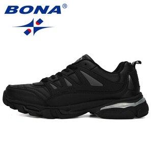 Image 4 - BONA 2019 New Designer Men Running Shoes Cow Split Krasovki Lace Up Non Slip Sport Shoes Men Sneakers Men Zapatillas Hombre Shoe