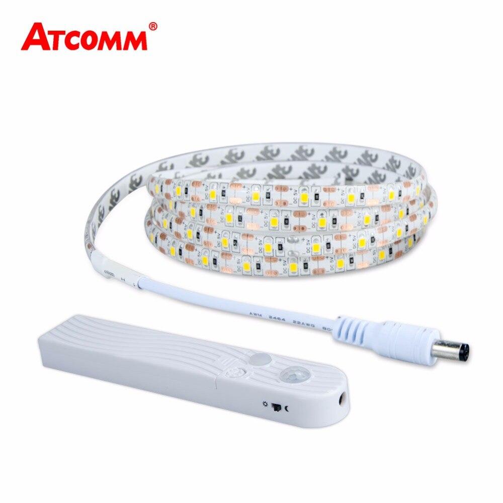 2835 RGB LED Bande Lumière Détecteur de mouvement IP65 Étanche Calendrier fonction LED Bande Lampe Nuit Lumière Pour Chambre à Coucher Escaliers couloir