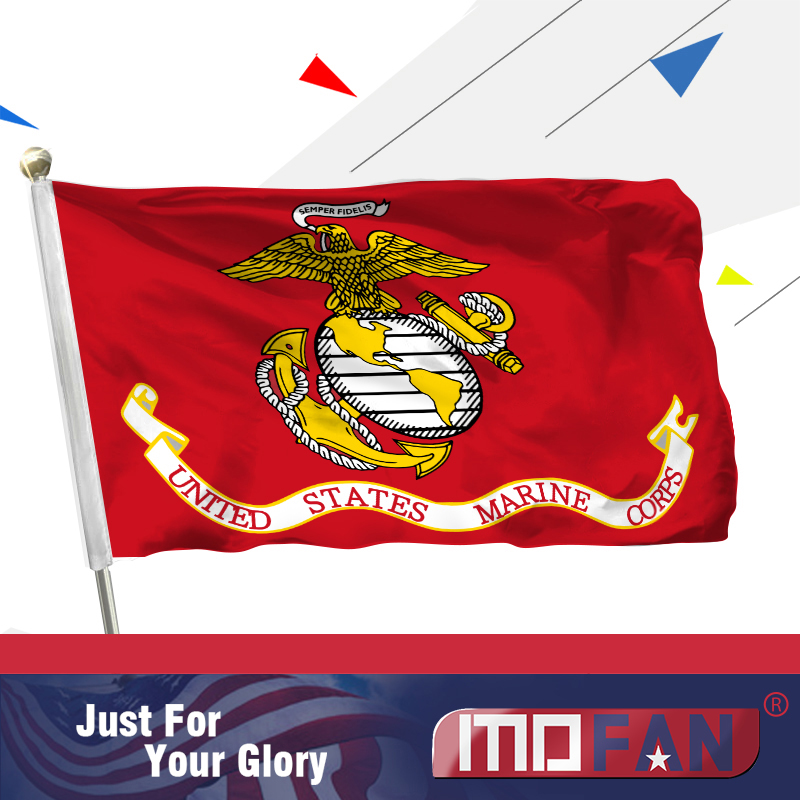 US $6 26 |MOFAN US Marines Polyester Flag US Marine Corps Military Flags  with 2 Brass Grommets Indoor/Outdoor Home Decoration 3x5ft-in Flags,  Banners