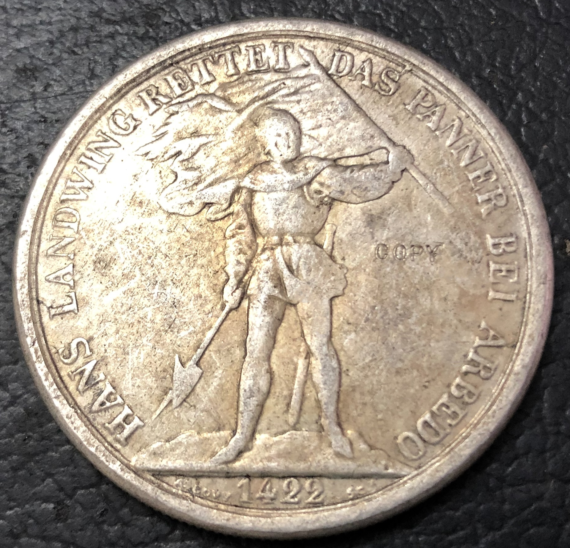 1869 Switzerland 5 Franken-shooting Festival issue coin качественная копия