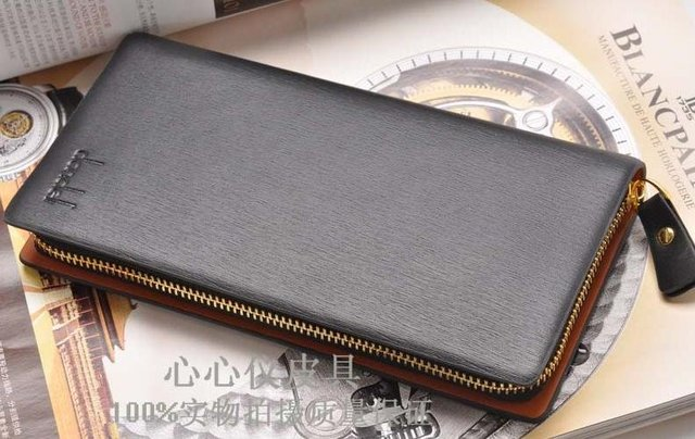 2014 Real Rushed Freeshipping Zipper Men Solid Fashion Polyester New Free Shipping!new Arrive Men's Cowhide Single Pull Wallet
