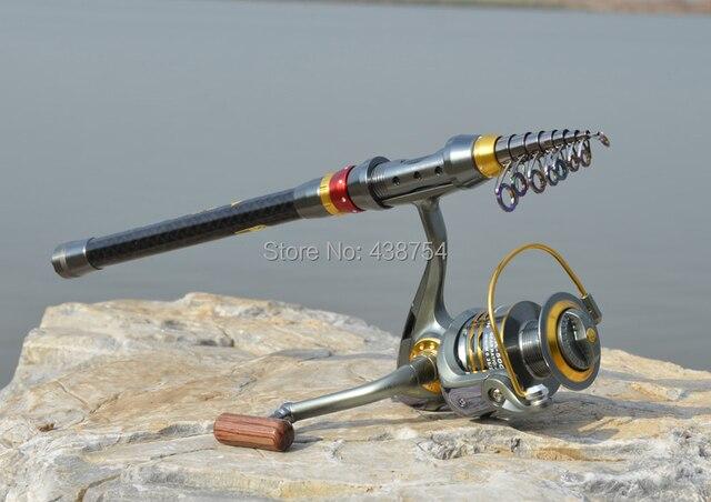 Carbon Fiber Telescopic Fishing Rod Portable Spinning Fishing Rod Pole Travel Sea Boat Rock Fishing Rod 4