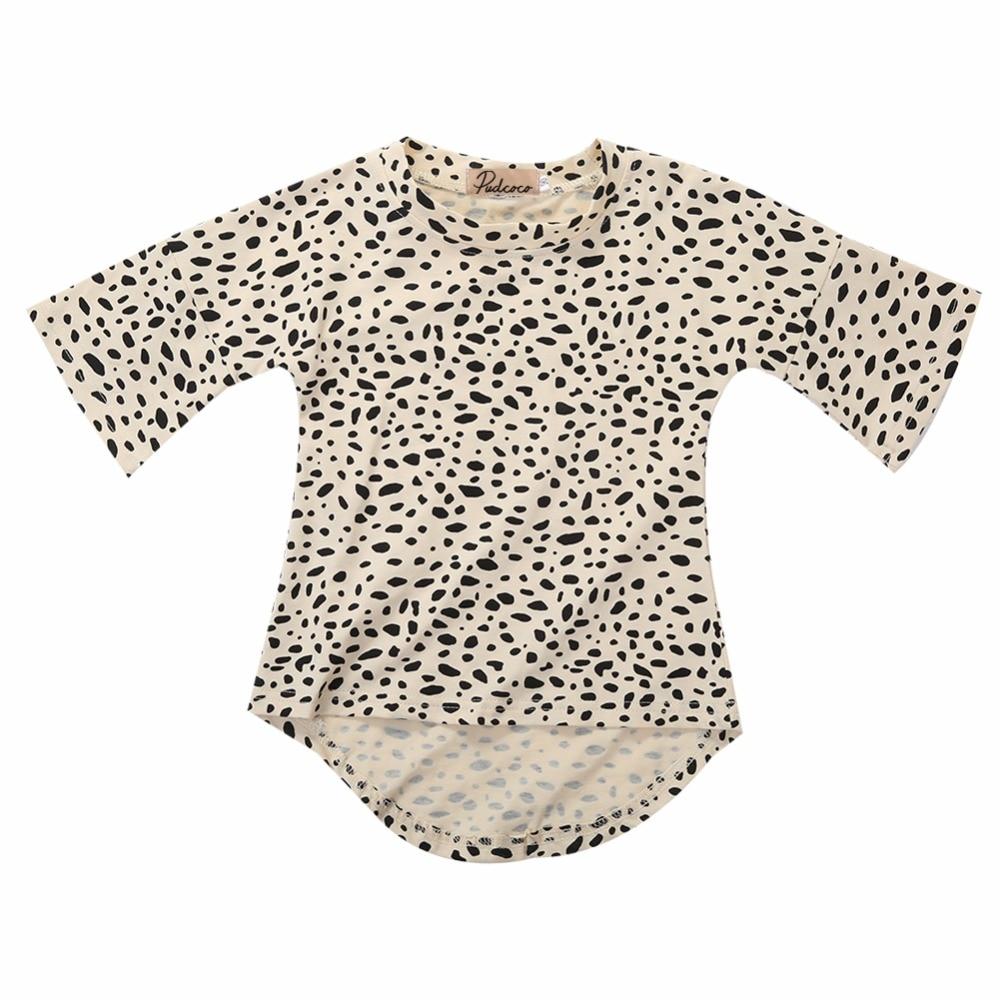 Милый Ребенок Девушки Платье 3/4 Рукавами Leopard Хлопок Свободные Платья для 0-5 Лет Дети