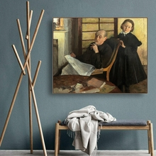 Degas and His Niece by Wall Art Canvas Poster Print Painting Decorative Picture for Living Room Bedroom Home Decor