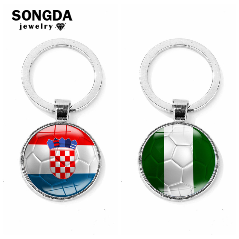 Jewelry Sets & More Double Nose New Aliexpress Fashion Soccer Sports Jewelry Heart Style Crystal Goalkeeper Keychains For Man