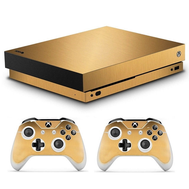Homereally stickers xbox one x sticker skin chrome gold and custom skin stickers for xbox one