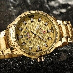 Image 5 - 2017 New Luxury Brand NAVIFORCE Watches Men Sport Full Steel Quartz Watch Man 3ATM Waterproof Clock Mens Military Wrist watches