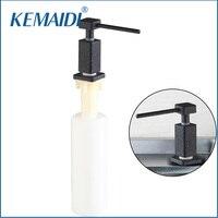 KEMAIDI Nhựa Màu Đen Duy Nhất Liquid Soap Dispensers Thay Thế Tay Xà Phòng Hộp Xà Phòng cho Rửa Tay/Bát