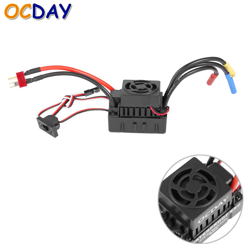 OCDAY Sensorless Brushless Waterproof 60A ESC for 1/10 RC Car Truck sensorless 35a brushless esc electric speed controller for rc car racing set ft