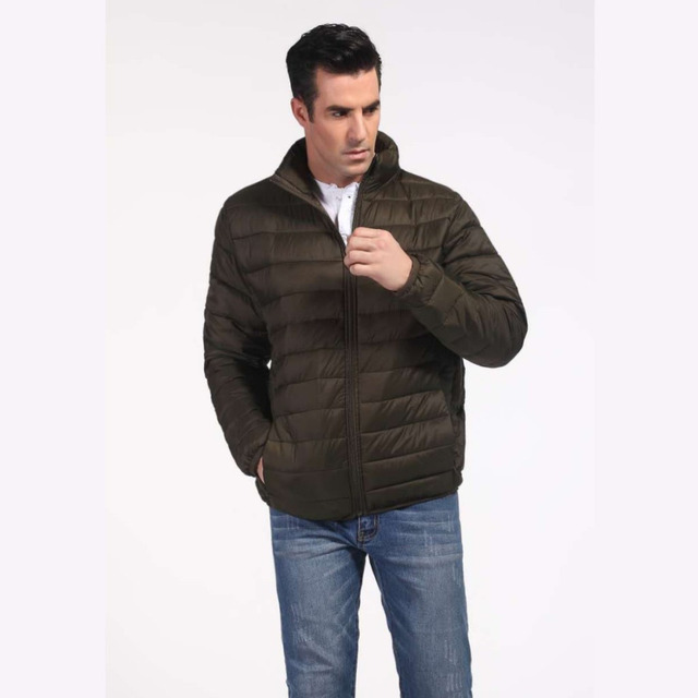 cf5f8e2dc US $29.99 |Men's Basic Style Imitated Down Winter Jacket Mens Down Feel  Puffer Quilted Padded Bubble Coat Jacket S 2XL 8 Colours-in Parkas from  Men's ...