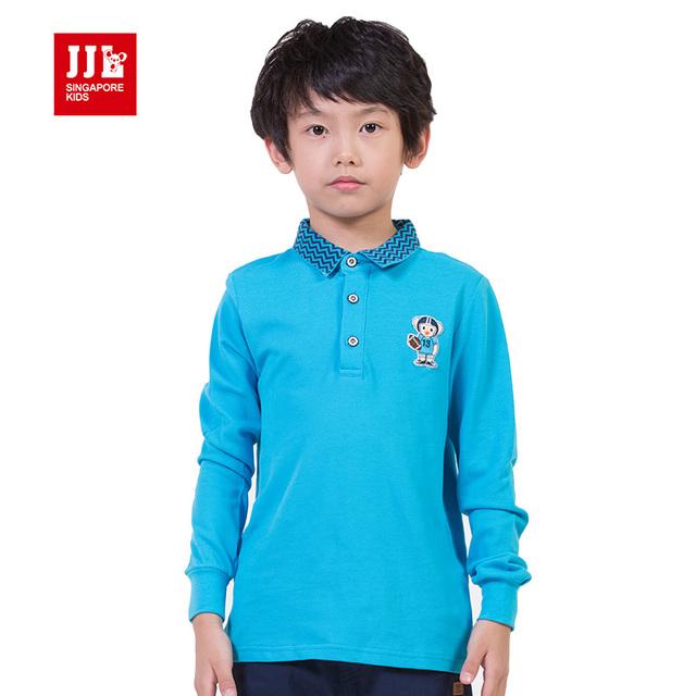 Jjlkids niños sueños niños carta de polo camisas de uniforme escolar ropa para niños ropa de la camiseta con cuello en v tops