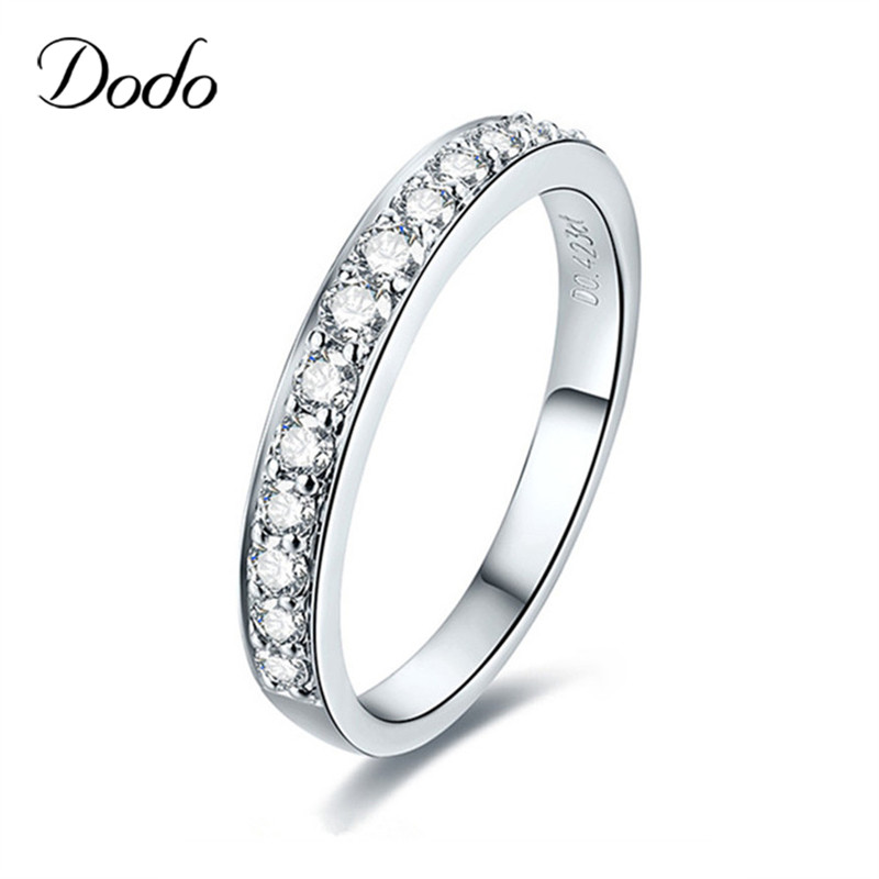 Antique 585 white gold Color jewelry Wedding Bands midi finger Engagement women Crystal wedding rings for women vintage DR147