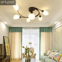 Artpad Art Deco Ceiling Light Fixtures Luminaire Plafonnier Surface Mount Indoor Lighting Kitchen Ceiling Light Fixtures E27 E14|Ceiling Lights| |  -