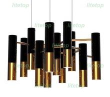 delightfull ike chandelier modern design pendant lamp suspension light dinning room living room restaurant black and gold color