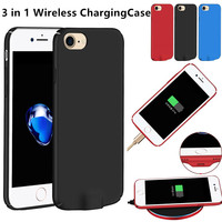3 In 1 Multi Qi Wireless Charging Receiver Ultra Thin Lighting Interface Case For IPhone 6