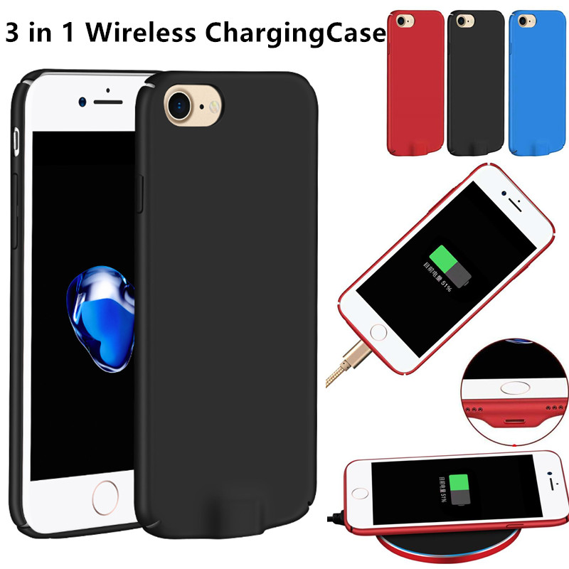 3 in 1 Multi Qi Wireless Charging Receiver Utral Thin Lighting Case for iPhone 6 6s Case iPhone 7 Direct Charging Power Cover