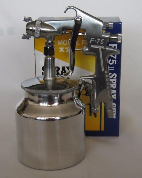 Mini Gravity Air HVLP Spray Gun Nozzle1.5mm 750ml Cup Paint Sprayer Airbrush Professional Painting Tool Kit paint spray gun 1 5mm nozzle gravity 400ml cup stainless steel high pressure painting gun