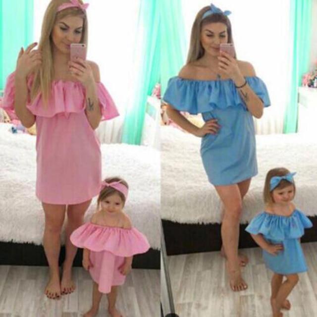 Familie Aussehen Kleider Mutter Tochter Kleider Kleidung Mutter Und ...