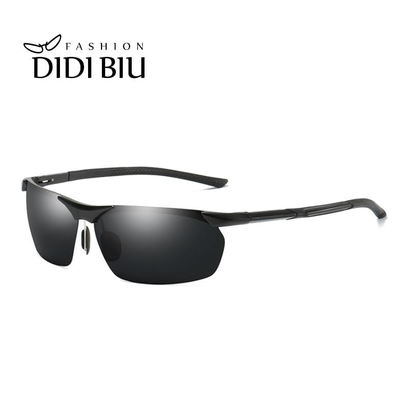 fe3bad805e Cheap DIDI sin montura gafas de sol polarizadas hombres clásico rectángulo  de aluminio Marco de gafas