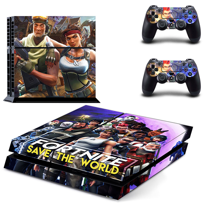 HOMEREALLY Stickers PS4 Skin Classic Game Fortnite PS4 Skin Sticker Decal For Sony PlayStation 4 Console and Controller