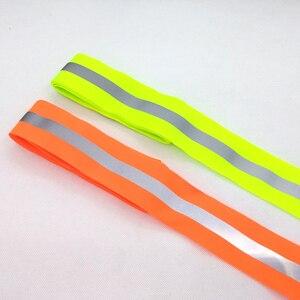 Image 1 - 50mm x 15mm * 3 medidor/lote, tecido reflexivo de oxford fita de costura, costurado em fita reflexiva para sacos de roupa alta visibilidade