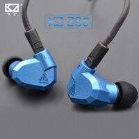 Original KZ ZS5 2DD+2BA Hybrid In Ear Earphone HIFI DJ Monito Running Sport Earphones Earplug Headset Earbud Two Colors