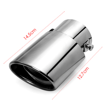 Universal Car Auto Tail Pipes Exhaust Tails Stainless Steel Rear Pipe Muffler Automobile Fittings