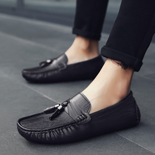 2018 new  Men Casual Shoes High Quality Slip On Loafers Male Fashion Flats 5