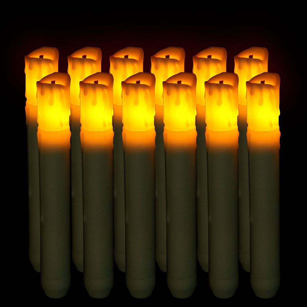 155mm tall electric led candle flameless candle for halloween