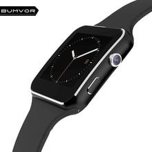 Bluetooth Smart часы X6 Smartwatch портативный шагомер устройств для iPhone Android часы с Камера Поддержка sim-карты наручные часы