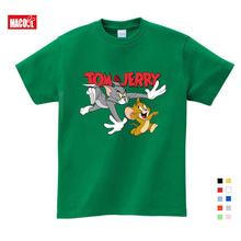 Children Summer Cartoon Tom and Jerry Tee Tops Costume for Kids Short Sleeve Tshirts Clothes 3T-9T Boy T-shirt Girls T Shirts