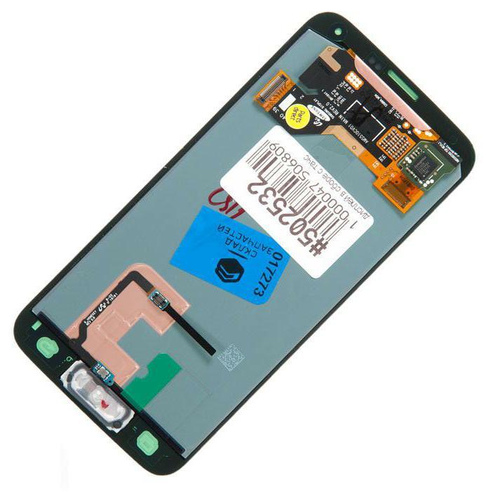 Дисплей с сенсорным экраном собран для Samsung для Galaxy S5 SM-G900H, G900FD золото GH97-15959D