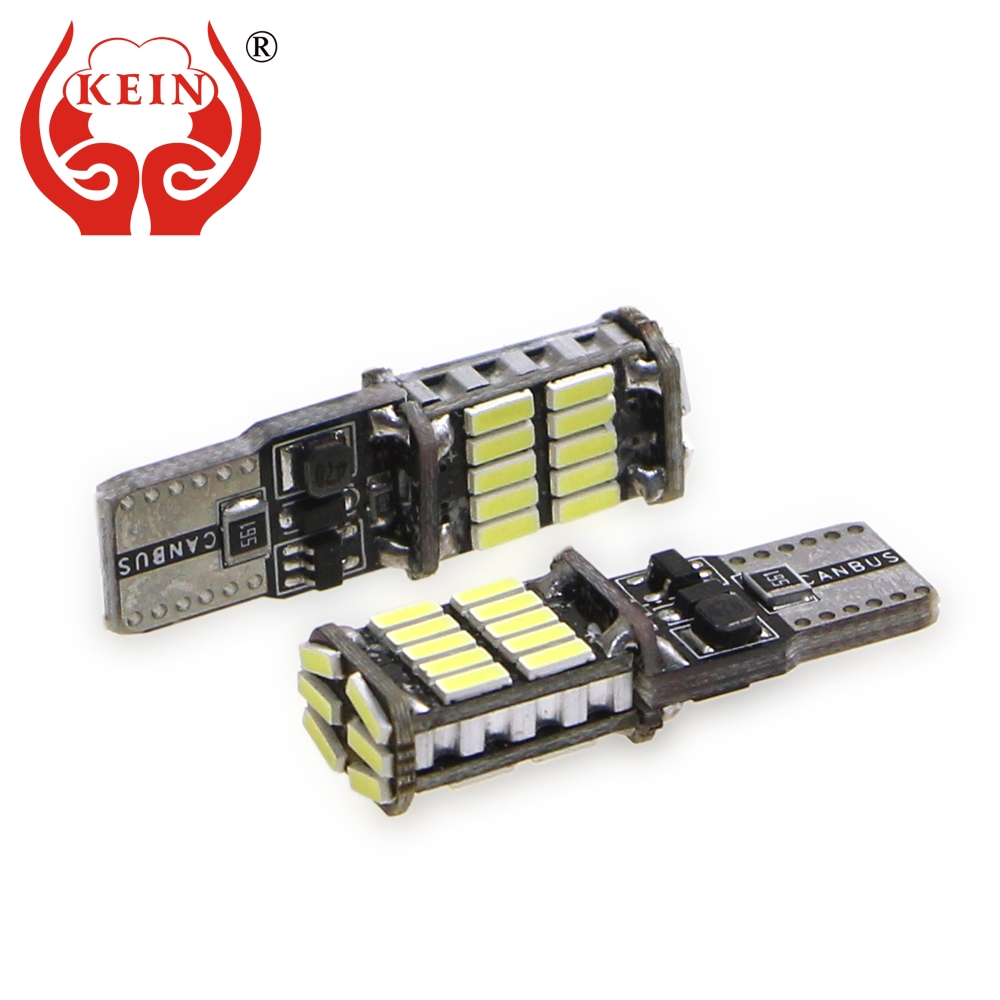 KEIN 2PCS <font><b>W5W</b></font> LED <font><b>T10</b></font> Bulb 26SMD <font><b>CANBUS</b></font> DRL <font><b>T10</b></font> LED 194 168 501 <font><b>4014</b></font> Side Wedge Light Signal Lamp 6000K 12V car styling Vehicle image
