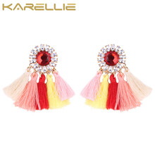 KARELLIE 2017 New Fashion Boho Statement Earrings Jewelry Tassel Wedding For Women Bijoux