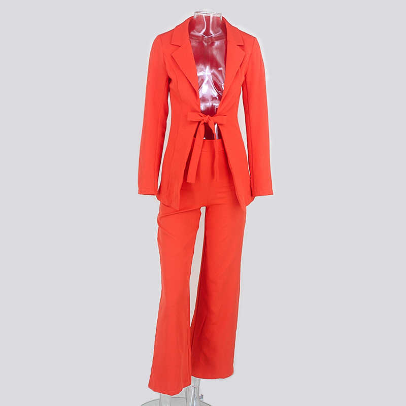 Tobinoone 2018 Autumn Winter Two Pieces Set Women Fashion Long Sleeve Suit Runway Casual Women Tracksuit Top And Pants Set Lady