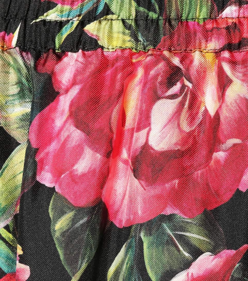Plus Casual Jambe Pyjama Floral Rose Nouveautés Personnalisé Femmes Taille Imprimé Large Élégant Élastique 2017 Noir Pantalon Automne De q6wftncURa