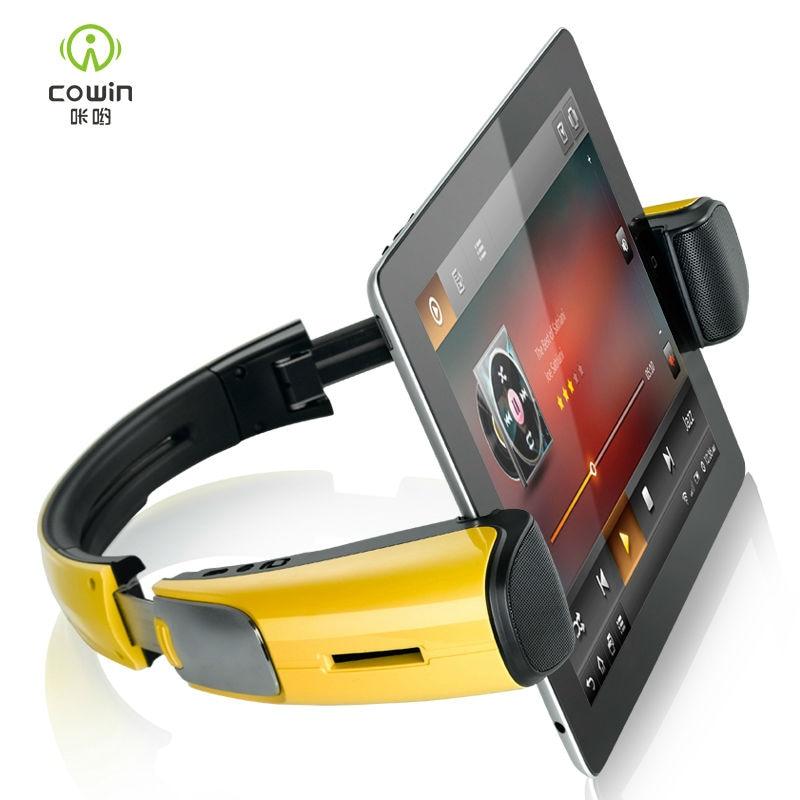 Prix pour Cowin Sans Fil Bluetooth Haut-Parleur Portable avec Microphone NFC Haut-parleurs Stand pour iPad Samsung Tablet Son Puissant Haut-Parleur