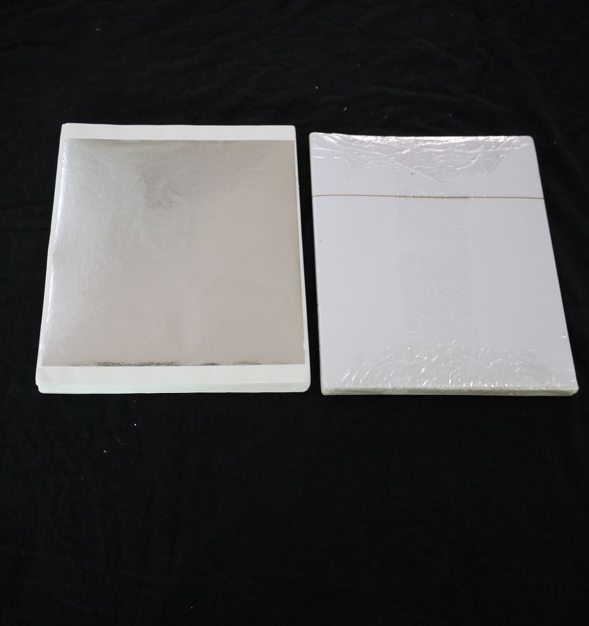 High Quality 1000 sheets 13x14cm Taiwan Imitation Silver leaf color like real silver leaf foil