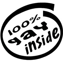Black Silver Homosexual Interior Vinyl Sticker Automobile Window Wallpaper