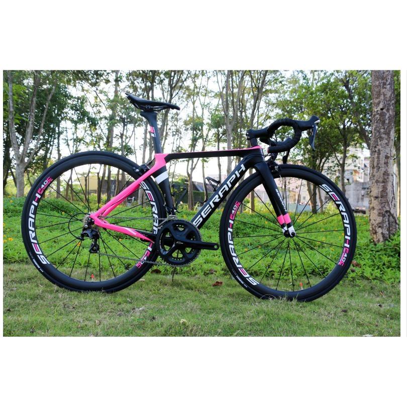 Full carbon aero road complete bike 22 speed shimao R7000/R8000+BB71 press in bottom bracket 1420 spoke pink complete bike TT-X1