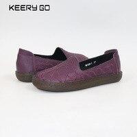 De eerste laag van lederen schoenen en een pedaal comfort match volledige lederen comfortabele voet Lederen bodem vrouwen schoenen