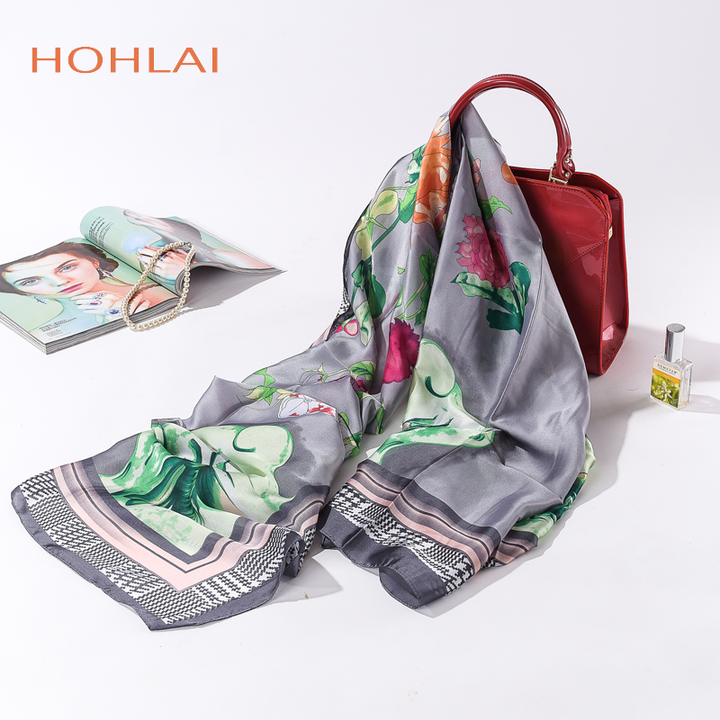 2018 hot new brand women scarf spring summer silk scarves shawls and wraps lady pashmina beach stoles hijab foulard
