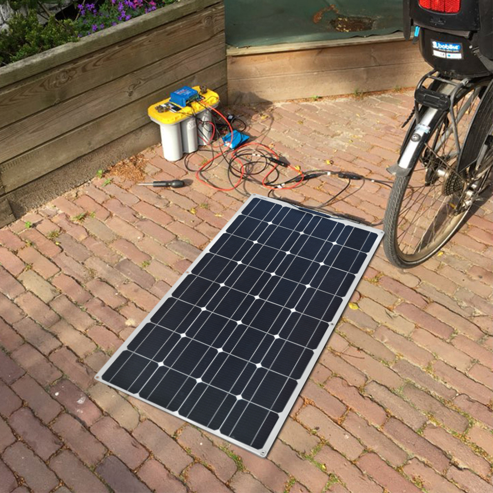 strong ETFE coating Car Battery//Boat Dokio 50w 100w flexible Solar Panel